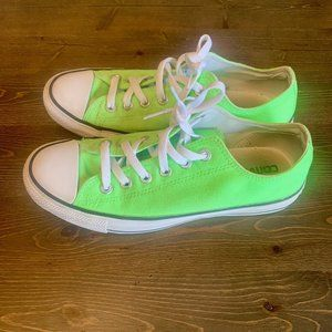 Converse Lime Green All-Stars - GUC - Unisex 6/8